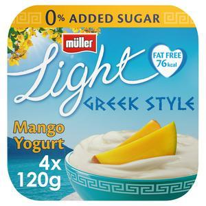 SAINSBURYS > Dairy Eggs Chilled > M�ller Light Mango Greek Style Yogurt 4x120g