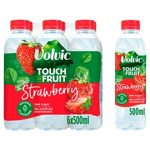 Volvic Touch Of Fruit Strawberry Flavoured Water 6x500ml