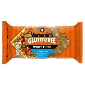 Warburtons Gluten Free White Sandwich Thins x4