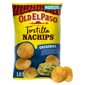 Old El Paso Gluten Free Crunchy Nacho Chips 185g