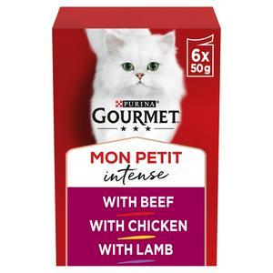Gourmet Mon Petit Cat Food Pouches Meat 6 X 50g