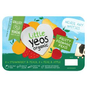 Yeo Valley Little Yeos Strawberry & Peach Apple & Pear Fromage Frais 6x45g