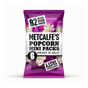 Metcalfe's Sweet & Salt Popcorn Multipack 6x17g