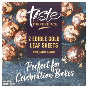 Sainsbury's Gold Leaf Sheets, Taste the Difference x2