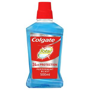 Colgate Total Peppermint Blast Mouthwash with CPC 500ml