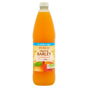 Sainsbury's Fruit and Barley Peach No added Sugar 1L