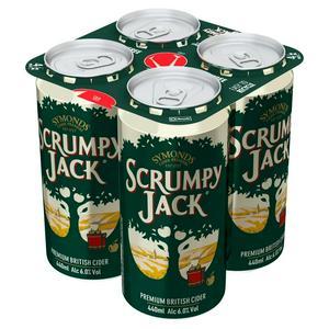 Symonds Scrumpy Jack Premium British Cider Cans 4 x 440ml