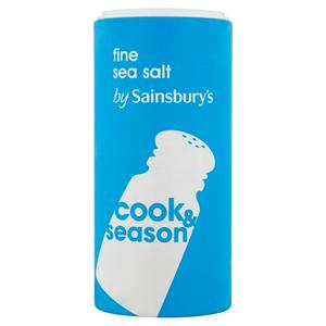 Sainsbury's Fine Sea Salt 350g