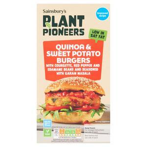 Sainsbury's Sweet Potato, Quinoa & Lentil Burger x4 350g
