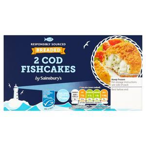 Sainsbury's Cod Fishcakes x2 170g