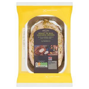Sainsbury's Roast in the Bag British Fresh Chicken Crown with Lemon & Garlic & Thyme 700g