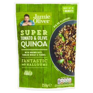 Jamie Oliver Microwave Ready to eat Tomato & Olive Quinoa 250g