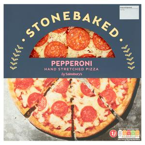 Sainsbury's Stonebaked Pepperoni Hand Stretched Pizza 270g