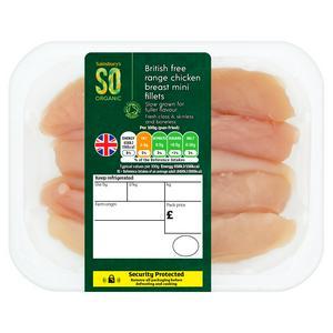 Sainsbury's Free Range British Chicken Mini Fillets, So Organic (approx.240g)