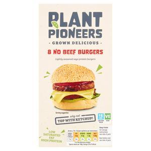 Plant Pioneers No Beef Burgers x8 454g