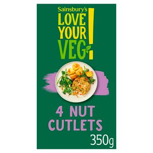 Sainsbury's Nut Cutlets x4 350g
