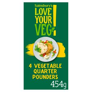 Sainsbury's Vegetable Quarter Pounders 454g