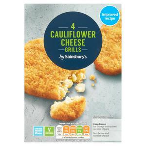 Sainsbury's Cauliflower Cheese Grills x4 397g