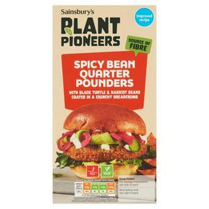 Sainsbury's Spicy Bean Burgers x4 454g
