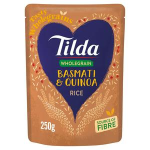 Tilda Microwave Brown Basmati & Quinoa Wholegrain Rice 250g