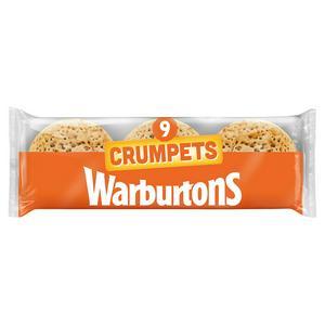 SAINSBURYS > Food Cupboard > Warburtons Crumpets x9