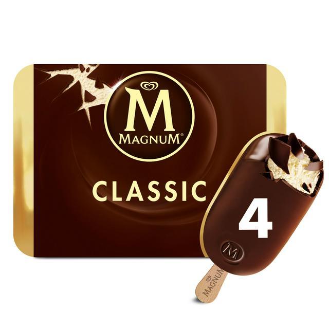 Magnum Ice Cream Classic Chocolate 4x110ml Sainsbury S