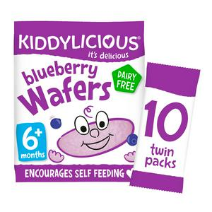 Kiddylicious Blueberry Wafers Snack 40g 6 Month+