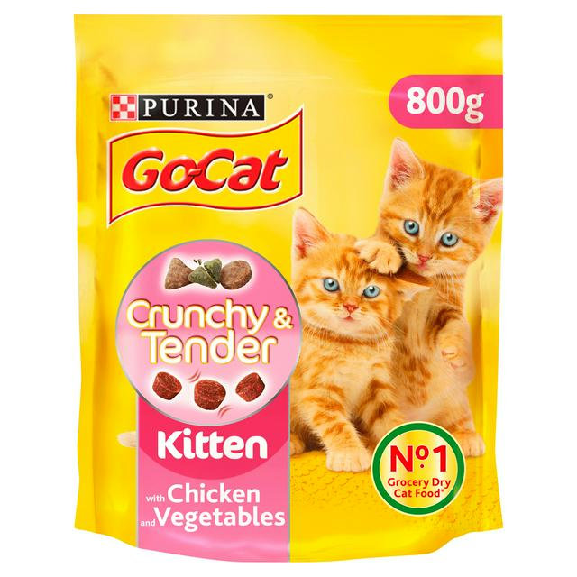 Go Cat Crunchy And Tender Kitten Dry Cat Food Chicken 800g Sainsbury S