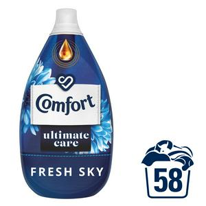 Comfort Ultimate Care Fresh Sky Ultra-Concentrated Fabric Conditioner 870ml (58 washes)