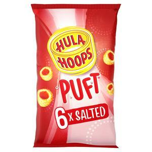 Hula Hoops Puft Salted Crisps 6x15g