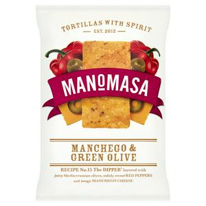 SAINSBURYS > Food Cupboard > Manomasa Manchego & Olive Tortillas 160g