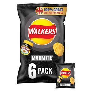 Walkers Marmite Multipack Crisps 6x25g