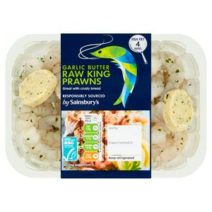 Sainsbury's King Prawns in Garlic & Parsley 200g