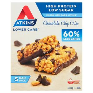 Atkins Chocolate Chip Crisp bars 5x30g