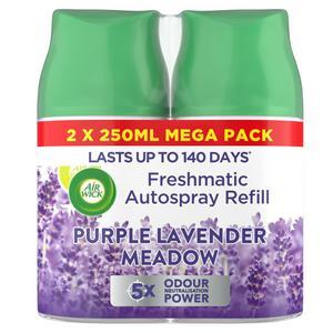 Air Wick Freshmatic Autospray Air Freshener Twin Refill Purple Lavender Meadow 2x250ml