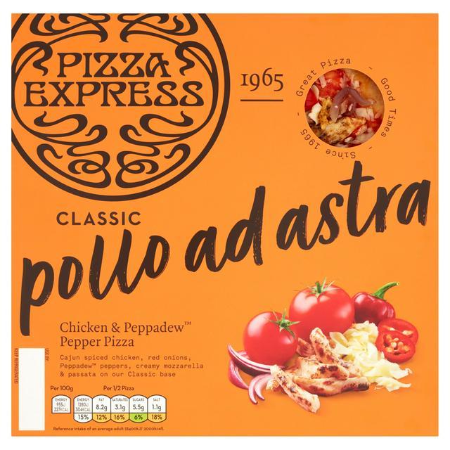 Pizza Express Classic Pollo Ad Astra Chicken Peppadew Pepper Pizza 280g Sainsbury S