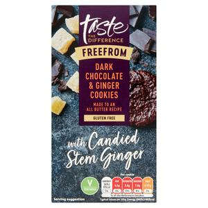 Taste the Difference Free From Dark Chocolate Ginger Cookies 150g