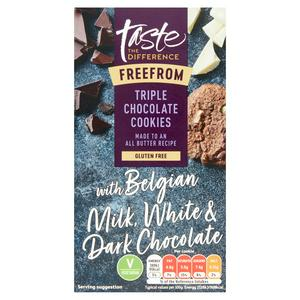 Taste the Difference Free From Triple Chocolate Cookies 150g