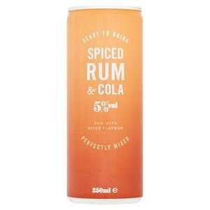 Sainsbury's Spiced Rum & Cola 250ml