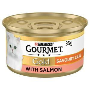 Gourmet Gold Tinned Cat Food Savoury Cake Salmon 85g