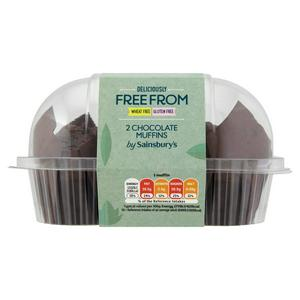 Sainsbury's Deliciously Free From Chocolate Muffin x2