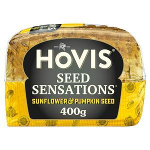 Hovis Seed Sensations Sunflower & Pumpkin Medium Sliced Seeded Bread 400g