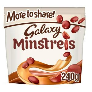 Galaxy Minstrels Chocolate More to Share Pouch Bag 240g