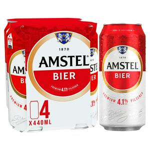 Amstel Lager Beer Cans 4 x 440ml