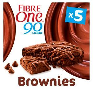SAINSBURYS > Food Cupboard > Fibre One 90 Calorie Chocolate Fudge Brownie Bars 5x24g