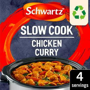 Schwartz Slow Cookers Chicken Curry Mix 33g