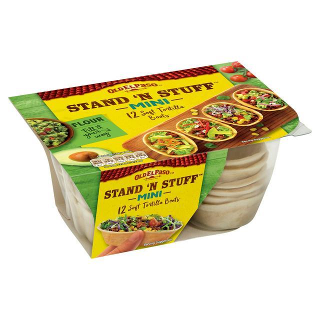 Old El Paso Stand N Stuff Fajita Mini Tortilla Wrap Boats X12 145g Sainsbury S