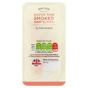 Sainsbury's British Wafer Thin Smoked Ham 70g