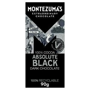 Montezuma's Dark Chocolate Absolute Black 100% Cocoa 90g