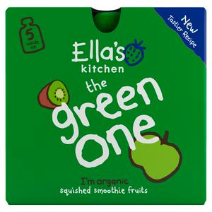 Ella's Kitchen Organic The Green One Smoothie Multipack Pouch 6+ Months 5 x 90g